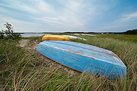 Dhingy, Boat Meadow Creek, Orleans, Cape Cod, MA, Massachusetts , USA