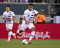 PHILADELPHIA, PA - JUNE 30: Weston Mckennie #8 during a game between Curaçao and USMNT at Lincoln Financial Field on June 30, 2019 in Philadelphia, Pennsylvania.