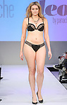 Model walks runway in lingerie from Panache, during the Lingerie Fashion Night - Romancing The Runway show, by CurvExpo and Lycra on February 23, 2015.