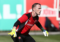 Fleetwood Town&rsquo;s Alex Cairns warming up<br /> <br /> Photographer Leila Coker/CameraSport<br /> <br /> The EFL Sky Bet League One - Fleetwood Town v Walsall - Saturday 5th May 2018 - Highbury Stadium - Fleetwood<br /> <br /> World Copyright &copy; 2018 CameraSport. All rights reserved. 43 Linden Ave. Countesthorpe. Leicester. England. LE8 5PG - Tel: +44 (0) 116 277 4147 - admin@camerasport.com - www.camerasport.com