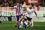 Atletico de Madrid´s Koke and Valencia CF´s Nicolas Otamendi during 2014-15 La Liga match between Atletico de Madrid and Valencia CF at Vicente Calderon stadium in Madrid, Spain. March 08, 2015. (ALTERPHOTOS/Luis Fernandez)