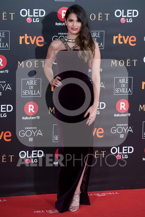 Sara Salamo attends red carpet of Goya Cinema Awards 2018 at Madrid Marriott Auditorium in Madrid , Spain. February 03, 2018. (ALTERPHOTOS/Borja B.Hojas)