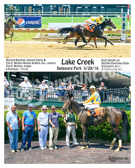 Lake Creek winning at Delaware Park on 5/28/16