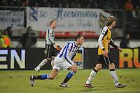 VOETBAL: SC HEERENVEEN: Abe Lenstra Stadion, 17-02-2012, SC-Heerenveen-NAC, Eredivisie, Eindstand 1-0, Bas Dost, Kees Luijckx, ©foto: Martin de Jong