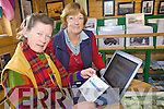 WEBSITE: Ryna O'Shea and Barbara O'Shea Cassidy of Ballinskelligs checking out the new South Kerry website on Friday last.