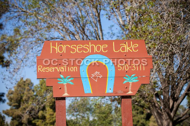Horseshoe Lake At El Dorado Regional Park In Long Beach California