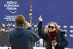 World Economic Forum - WEF - Davos 2018.  U.S President Donald J. Trump is protested against country-wide during the 48th World Economic Forum in Davos, Switzerland on January 26, 2018.