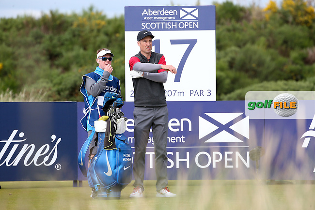 Ross Fisher (ENG) during Round Two of the 2016 Aberdeen Asset Management Scottish Open, played at Castle Stuart Golf Club, Inverness, Scotland. 08/07/2016. Picture: David Lloyd | Golffile.<br /> <br /> All photos usage must carry mandatory copyright credit (&copy; Golffile | David Lloyd)