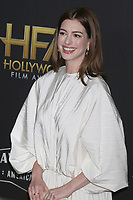 LOS ANGELES - NOV 4:  Anne Hathaway at the Hollywood Film Awards 2018 at the Beverly Hilton Hotel on November 4, 2018 in Beverly Hills, CA