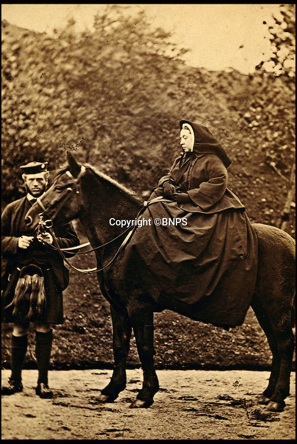 BNPS.co.uk (01202 558833)<br /> Pic: Bonhams/BNPS<br /> <br /> Queen Victoria with John Brown.<br /> <br /> 'Mrs Brown's' christmas gift to her loyal manservant revealed.<br /> <br /> An antique rifle that was a gift from Queen Victoria to a manservant who was rumoured to have been her lover has emerged for sale for £40,000.<br /> <br /> The stoic monarch turned to trusted attendant John Brown for counsel after the death of her husband, Prince Albert in 1861.<br /> <br /> Their friendship became so close that it was suggested they were romantically involved.<br /> <br /> At Christmas 1873 she gave keen huntsman Brown a brand new .450 double-barrelled hammer rifle made by Alexander Henry in Edinburgh.<br /> <br /> The gun is being sold by Bonhams in London on May 12.