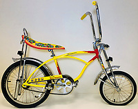 BNPS.co.uk (01202 558833)<br /> Pic: OmegaAuctions/BNPS<br /> <br /> PICTURED:  A Yellow Submarine retro bicycle fetched nearly £3,350<br /> <br /> The first ever played Beatles record has sold at auction for over £20,000 leading an £80,000 sale of music memorabilia amassed by a veteran radio DJ.<br /> <br /> Tony Prince worked for Radio Luxembourg which was the first to give air time to the Fab Four.<br /> <br /> On the evening of October 5, 1962, the pirate radio station broadcast their debut 7in single. <br /> <br /> It was the first time the people of the UK got to hear the ground-breaking music of The Beatles.