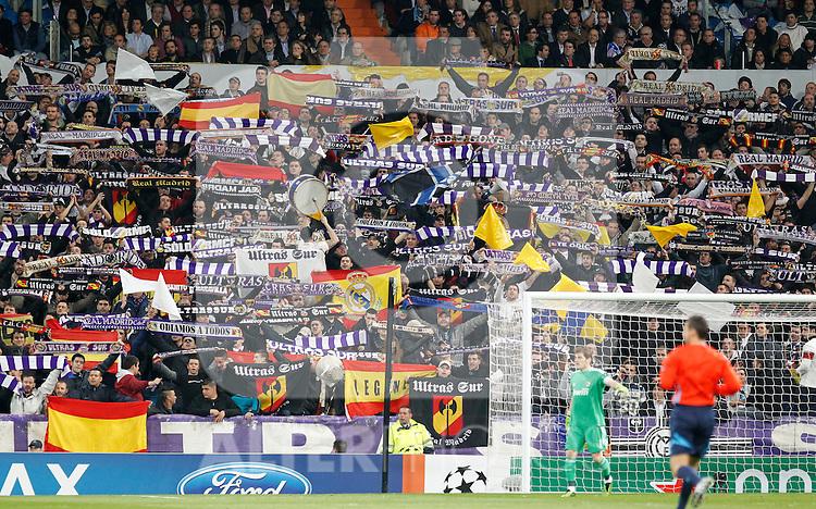 Madrid (16/03/2011).- Estadio Santiago Bernabeu..UEFA Champion League..Real Madrid 3 - Olympique Lyonnais 0.Aficion Real Madrid...©Alex Cid-Fuentes/ALFAQUI...