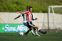 Chivas USA midfielder Jesse Marsch (15) chases a ball. The Chivas USA and New England Revolution played to 1-1 draw during a early round match of the 2008 SuperLiga at Cal State Fullerton Titan stadium in Fullerton, California on Sunday July 20, 2008.