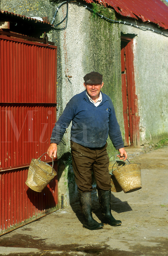 Portrait of an Irish farmer, County Kerry, Ireland