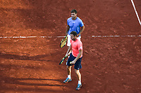 Ryan Harrison and Michael Venus during the day 14 of the French Open at Roland Garros on June 10, 2017 in Paris, France. (Photo by Anthony Dibon/Icon Sport)