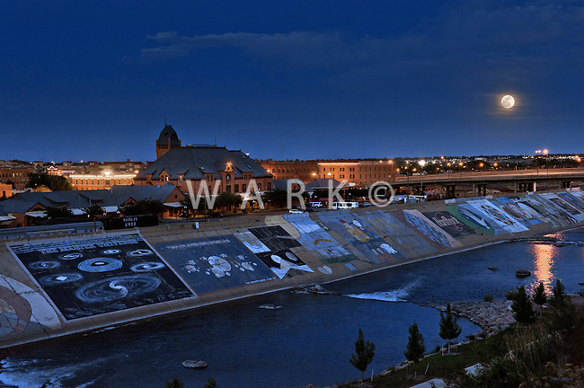 Moonrise over Arkansas River, Pueblo, Colorado 2012