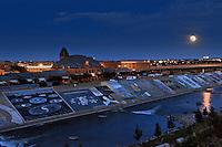 Moonrise over Arkansas River, Pueblo, Colorado 2012