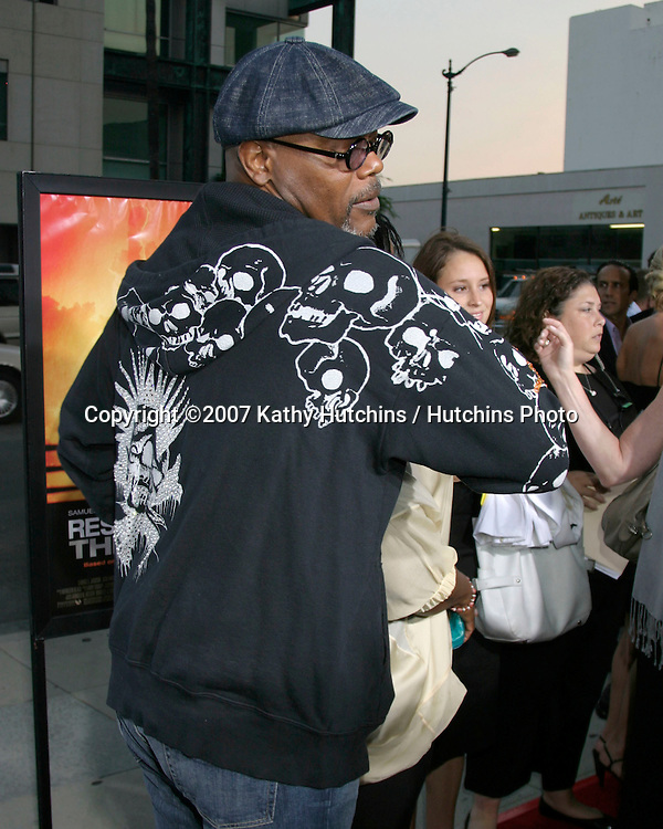 "Samuel L. Jackson .""Resurrecting The Champ"" Premiere.Beverly Hills,  CA.Aug 22, 2007.©2007 Kathy Hutchins / Hutchins Photo...."