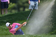 Bethesda, MD - June 28, 2014: Stuart Cink takes a shot from the bunker on the 8th hole in Round 3 of the Quicken Loans National at the Congressional Country Club in Bethesda, MD, June 28, 2014.  (Photo by Don Baxter/Media Images International)