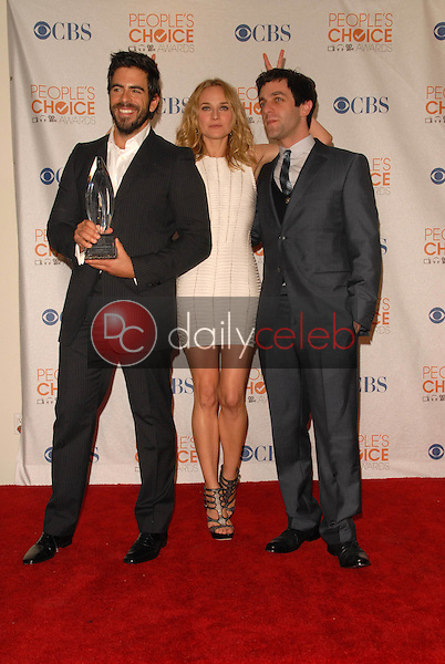 Eli Roth, Diane Kruger and  B.J. Novak<br /> at the Press Room for the 2010 People's Choice Awards, Nokia Theater L.A. Live, Los Angeles, CA. 01-06-10<br /> David Edwards/Dailyceleb.com 818-249-4998