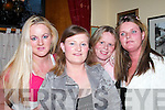 FANS: Anxiously awaiting the arrival of Declan Nerney in Athea on Friday night were, l-r: Bridget OBrien, Catherine Coffey, Lorraine Coffey and Mary OBrien, Abbeyfeale..