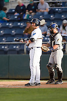 D.J. Peterson #33 of the Everett AquaSox at bat during a game against the Tri-City Dust Devils at Everett Memorial Stadium in Everett, Washington on June 19, 2013.  Everett defeated Tri-City 4-3.  (Ronnie Allen/Four Seam Images)