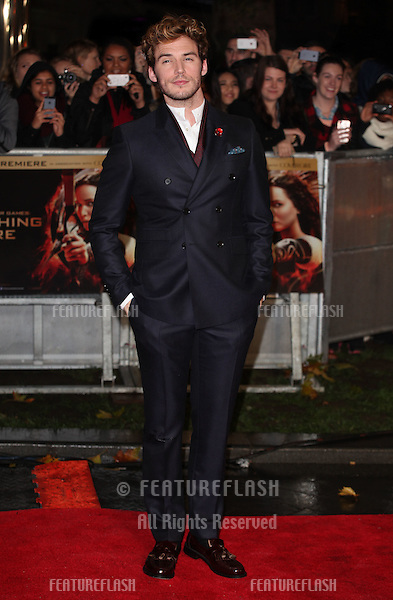 Sam Claffin arriving for The Hunger Games, Catching Fire World Premiere, London Leicester Square. 11/11/2013 Picture by: Alexandra Glen / Featureflash