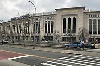 Yankee Stadium in New York - 11.04.2018: Sightseeing in New York