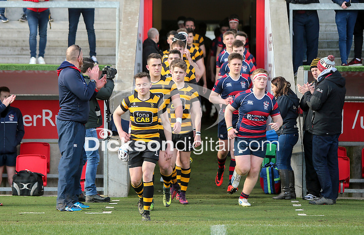 Monday 27th February 2017 | ULSTER SCHOOLS CUP SEMI-FINAL<br /> <br /> Michael Lowry during the Ulster Schools Cup Semi-Final between RBAI and Ballymena Academy  at Kingspan Stadium, Ravenhill Park, Belfast, Northern Ireland. <br /> <br /> Photograph by John Dickson | www.dicksondigital.com
