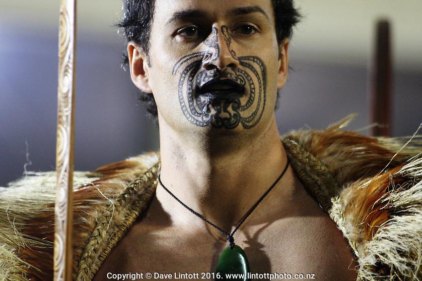 A Maori entertainer..Tri Nations - All Blacks v Australia at Eden Park, Auckland, New Zealand. Saturday 14 July 2009. Photo: Dave Lintott / lintottphoto.co.nz