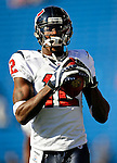 1 November 2009: Houston Texans' wide receiver Jacoby Jones warms up prior to a game against the Buffalo Bills at Ralph Wilson Stadium in Orchard Park, New York, United States of America. The Texans defeated the Bills 31-10. Mandatory Credit: Ed Wolfstein Photo