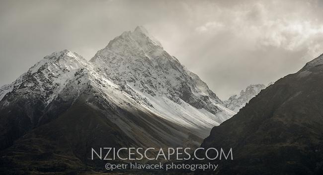 Mt. Burnett of Southern Alps, Mackenzie Country, South Island, New Zealand, NZ