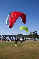 Paragliders, Northwest Paddling Festival 2016, Lake Sammamish State Park, Issaquah, WA, USA.