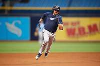 Zach Rutherford (11) runs the bases during the Tampa Bay Rays Instructional League Intrasquad World Series game on October 3, 2018 at the Tropicana Field in St. Petersburg, Florida.  (Mike Janes/Four Seam Images)