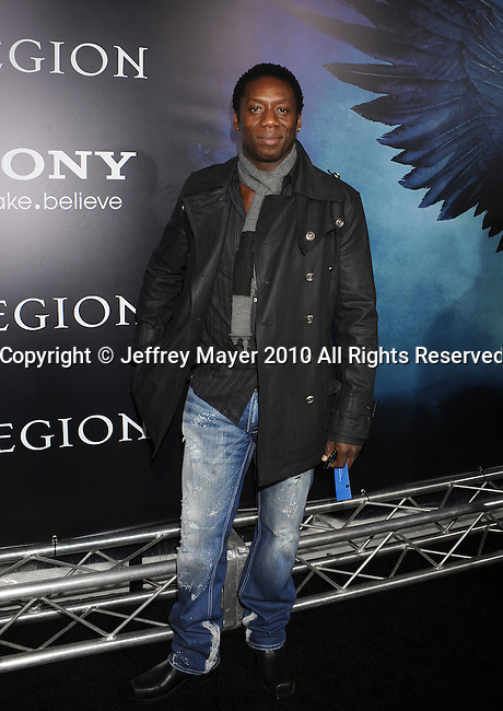 "HOLLYWOOD, CA. - January 21: Hakeem Kae-Kazim attends the ""Legion"" Los Angeles premiere at ArcLight Cinemas Cinerama Dome on January 21, 2010 in Hollywood, California."