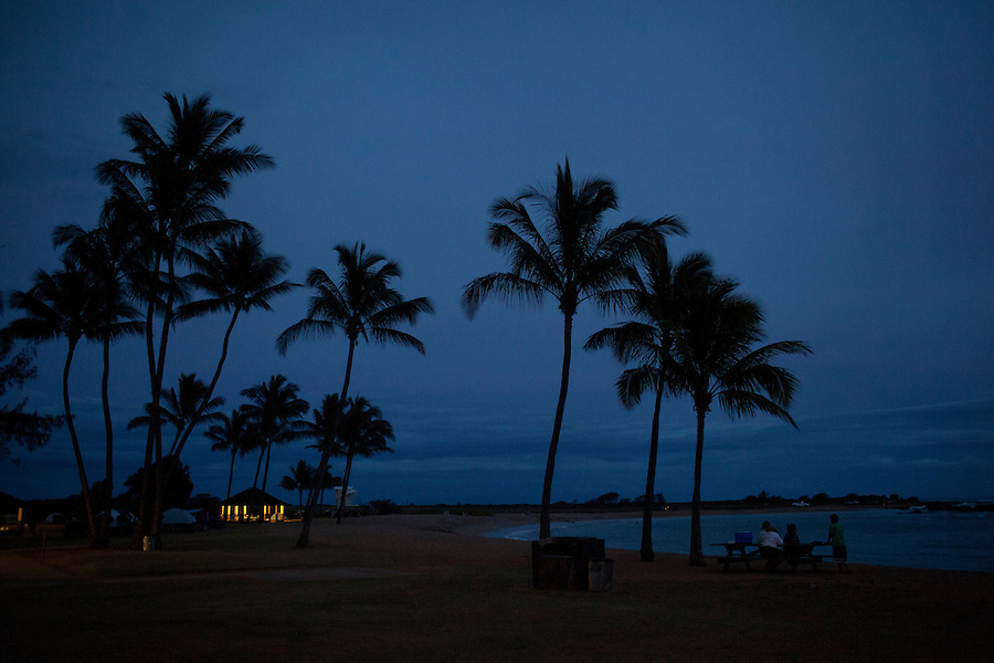 Salt Pond Park at dusk, Kauai, HI, USA