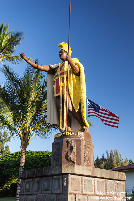 King Kamehameha statue in Kapa'au, Big Island, Hawaii