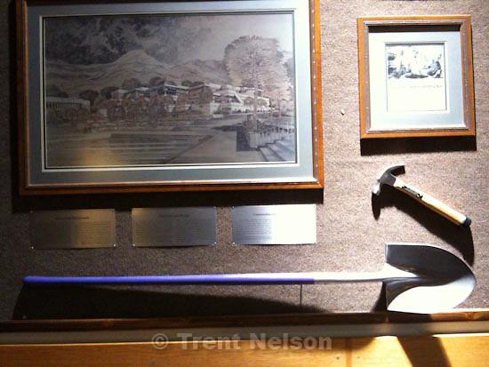 . Friday, October 30 2009.weber state. shovel on display