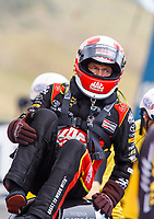 Jul 23, 2017; Morrison, CO, USA; NHRA top fuel driver Doug Kalitta during the Mile High Nationals at Bandimere Speedway. Mandatory Credit: Mark J. Rebilas-USA TODAY Sports