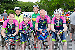 The Missing Links cyclin team from Caherciveen at the Stephanie O'Sullivan memorial cycle in Milltown on Sunday l-r: Patrick Keating, Mike O'Connor, Sandra houlihan, Tom lynch, Brendan Cap, and Padraig Murphy