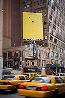 A billboard advertising the new Apple iPhone 5C in Midtown Manhattan in New York on Friday, October 25, 2013.   (© Richard B. Levine)