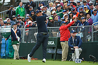 Byeong Hun An (KOR) watches his tee shot on 4 during round 4 of the 2019 US Open, Pebble Beach Golf Links, Monterrey, California, USA. 6/16/2019.<br /> Picture: Golffile | Ken Murray<br /> <br /> All photo usage must carry mandatory copyright credit (© Golffile | Ken Murray)