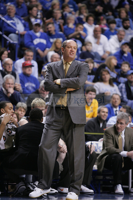 Vanderbilt head coach Kevin Stallings reacts to a play at Rupp Arena on Saturday, Jan. 30, 2010. Photo by Scott Hannigan | Staff