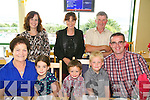 Enjoying a family get together at the Kingdom Greyhound Stadium on Saturday. Pictured Front left to right, Marie Fleming, Ella O'Brien, James O'Brien, Enda O'Brien, Vincent O'Brien.  Back left to right, Catriona O'Brien, Siobhan Fleming, Raymond Fleming from Gneeveguilla