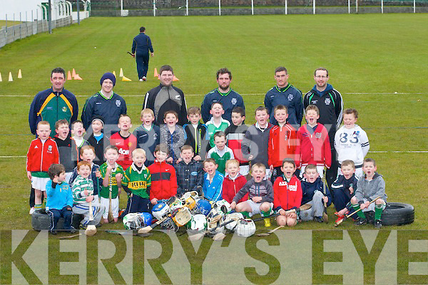 TRANING: The Un der 6st to 10 from Ballyduff AScamsdy School in training with their mentors on Saturday morning at Ballyduff GAA Grounds, Mentors TJ Browne Ian Guerin, JP Hussey, Marie Lucid, Paudie County, Mike Guerin, John Ross, Marie O'Carroll and Jack Harrington.