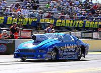 Mar 14, 2014; Gainesville, FL, USA; NHRA pro stock driver Larry Morgan during qualifying for the Gatornationals at Gainesville Raceway Mandatory Credit: Mark J. Rebilas-USA TODAY Sports