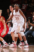 STANFORD, CA - NOVEMBER 20:  Nnemkadi Ogwumike of the Stanford Cardinal during Stanford's 84-46 win over the University of New Mexico on November 20, 2008 at Maples Pavilion in Stanford, California.