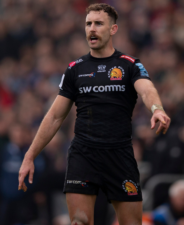 Exeter Chiefs' Nic White<br /> <br /> Photographer Bob Bradford/CameraSport<br /> <br /> Gallagher Premiership - Exeter Chiefs v Newcastle Falcons - Saturday 23rd February 2019 - Sandy Park - Exeter<br /> <br /> World Copyright © 2019 CameraSport. All rights reserved. 43 Linden Ave. Countesthorpe. Leicester. England. LE8 5PG - Tel: +44 (0) 116 277 4147 - admin@camerasport.com - www.camerasport.com