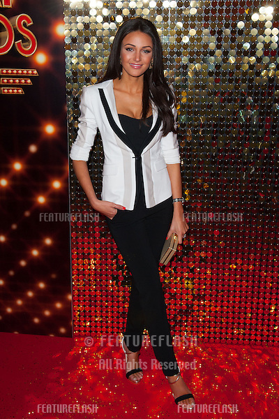 Michelle Keegan arriving for the 2014 British Soap Awards, at the Hackney Empire, London. 24/05/2014 Picture by: Dave Norton / Featureflash