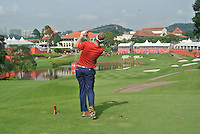 Billy Hurley III (USA) on the 14th tee during Round 3 of the CIMB Classic in the Kuala Lumpur Golf & Country Club on Saturday 1st November 2014.<br /> Picture:  Thos Caffrey / www.golffile.ie